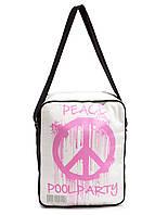 Мужская сумка POOLPARTY Peace с ремнем на плечо