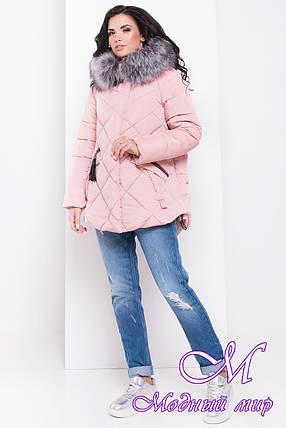 Зимняя женская куртка с мехом (р. S, M, L) арт. Лисбет 3253 - 16728, фото 2