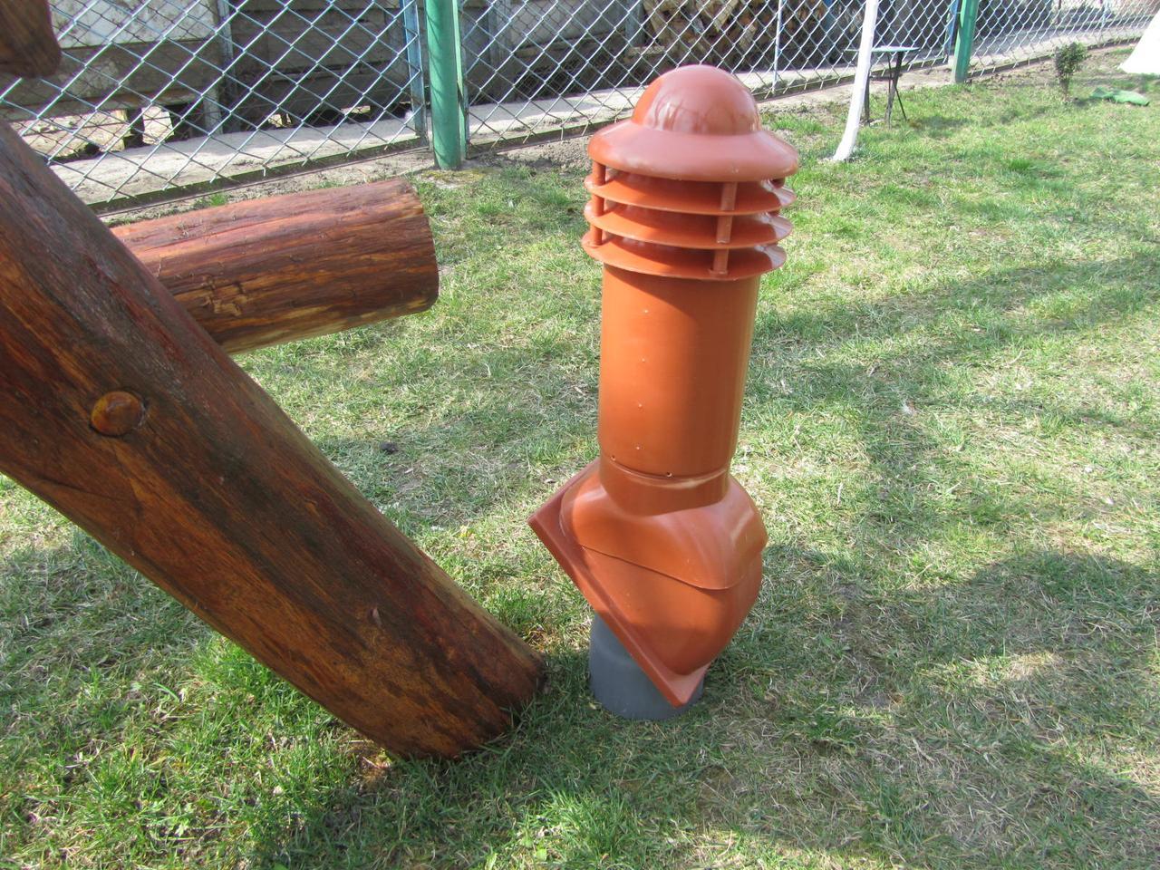 Вентиляционный выход помаранчевый 110мм Kamp-Eu