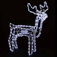 Светодиодный Новогодний LED Олень 105 см - двигается голова  - светящейся фигурка оленя