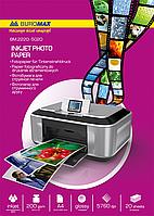 Фотобумага глянцевая А4, 200 г/м², 20 листов. BuroMax
