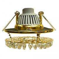 Светильник точечный галогенный HSC 09 G MR16 (золото/проз., 50W)