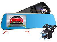 "D22 Зеркало регистратор, 5"" сенсор, 2 камеры, GPS навигатор, WiFI, 8Gb, Android"
