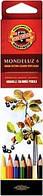 Карандаши цветные акварельные Koh-i-Noor MONDELUZ 6 цветов 3715