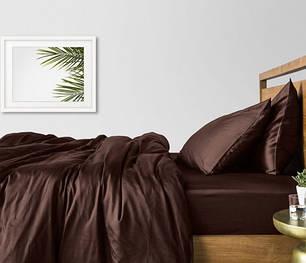 Постельное белье сатин DARK CHOCOLATE ТМ Царский дом  (Полуторный), фото 2