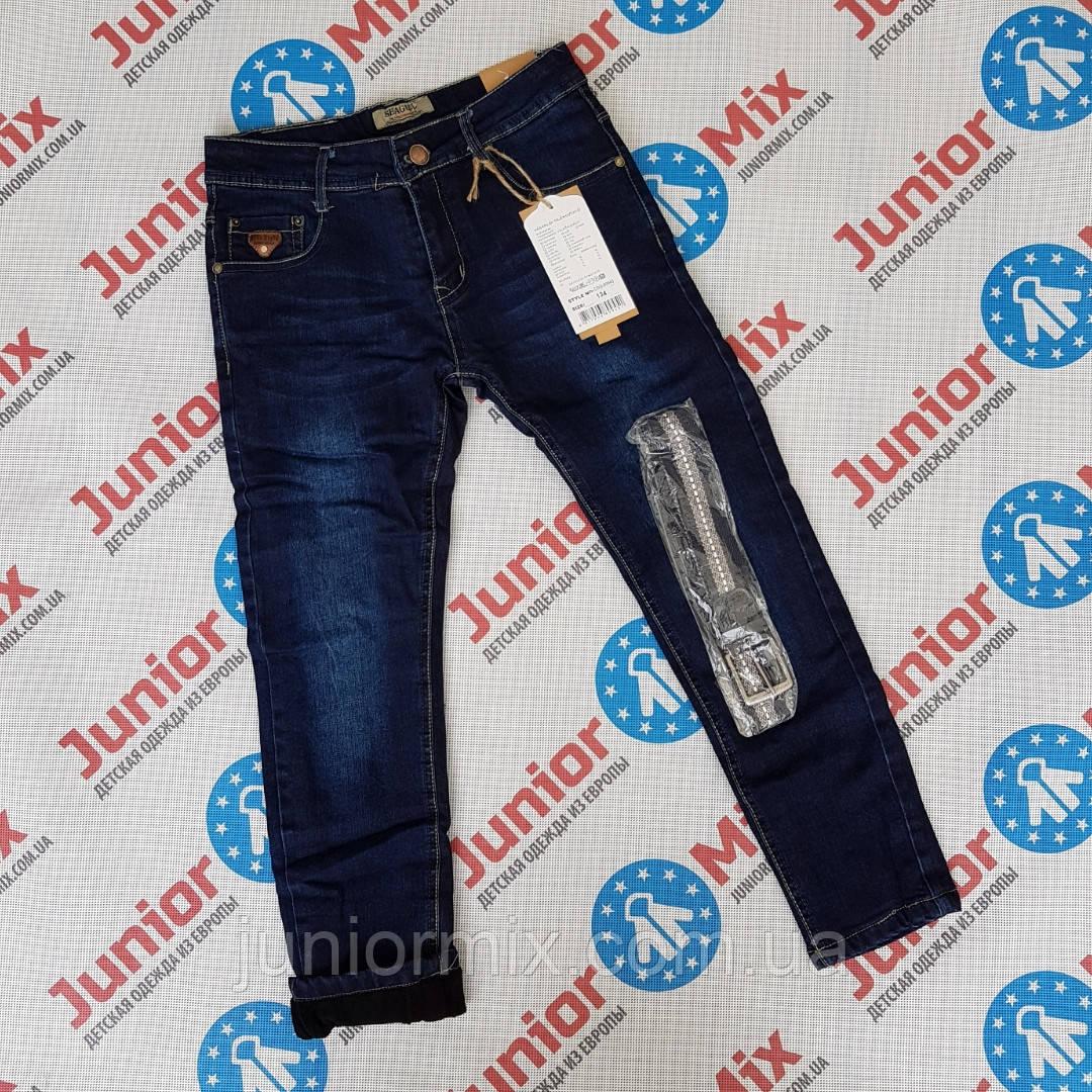 Детские теплые  джинсы на флисе для мальчиков оптом SEAGULL