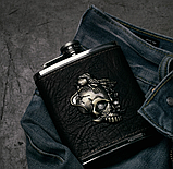 Фляга в кожаном чехле «Gothic» 7 oz / 210 г., фото 6
