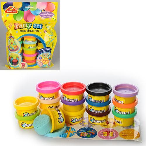 Тесто для лепки 3618  15цв,аромат, в кульке,20-26-5см