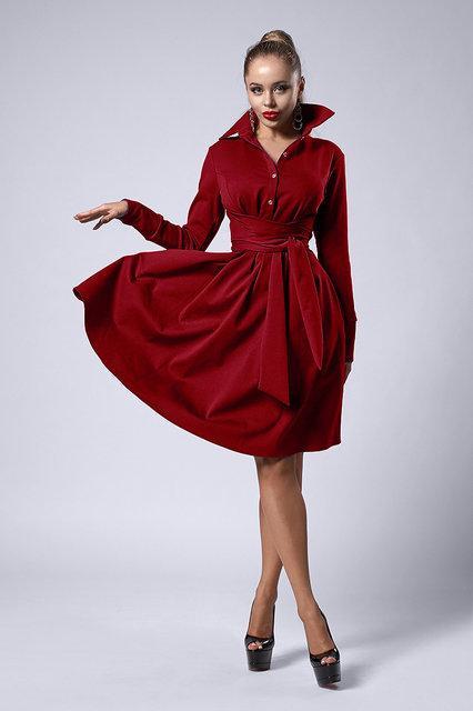 Красивое нарядное платье клеш по колено из итальянского трикотажа,46,48,50