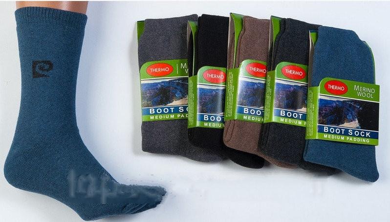 """Шерстяные носки мужские с махрой ТЕРМО """"Merino Wool"""", толстые, вязанные, и теплые, Турция"""