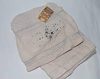 Женский комплект шапка и шарф, опт