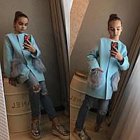 """Пальто для девочки """"Меховой карман"""""""