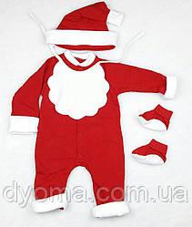 """Детский новогодний комплект """"Санта """" для мальчиков"""