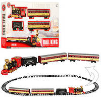ЖД 19035E  148-86см,локомотив-звук,свет, дым,вагон3шт,на бат-ке,в кор-ке,66,5-38-8см