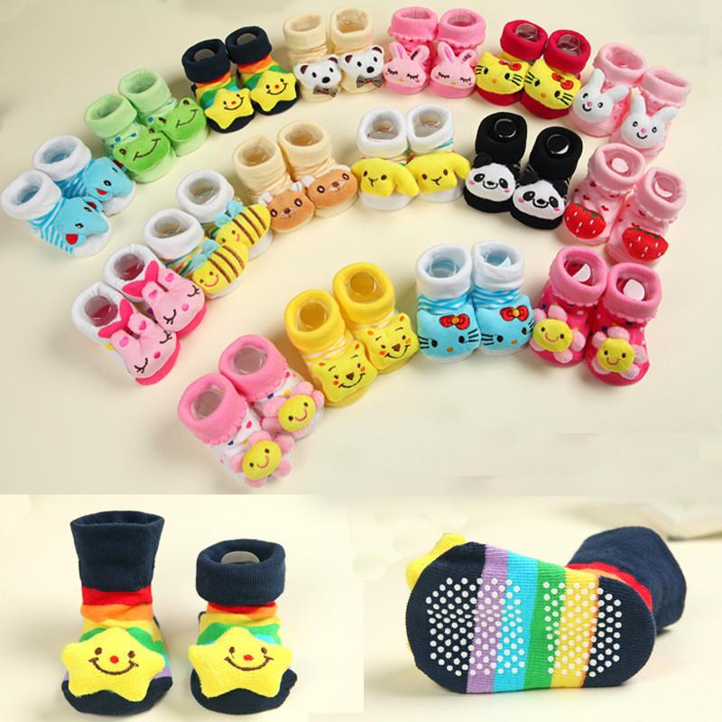 Носки с тормозками для малышей.