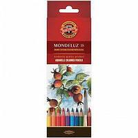 Карандаши цветные акварельные Koh-i-noor MONDELUZ 18 цветов 3717