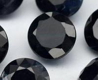 Натуральный темно синий сапфир  4 mm .