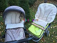 Чехол-конверт удлиненный на санки и в коляску Люкс на меху