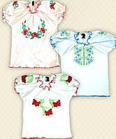 TM Dresko Вышиванка для девочки с коротким рукавом интерлок (10429)