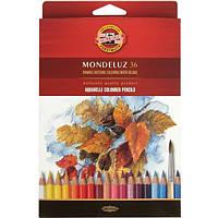 Карандаши цветные акварельные Koh-i-noor MONDELUZ 36 цветов 3719