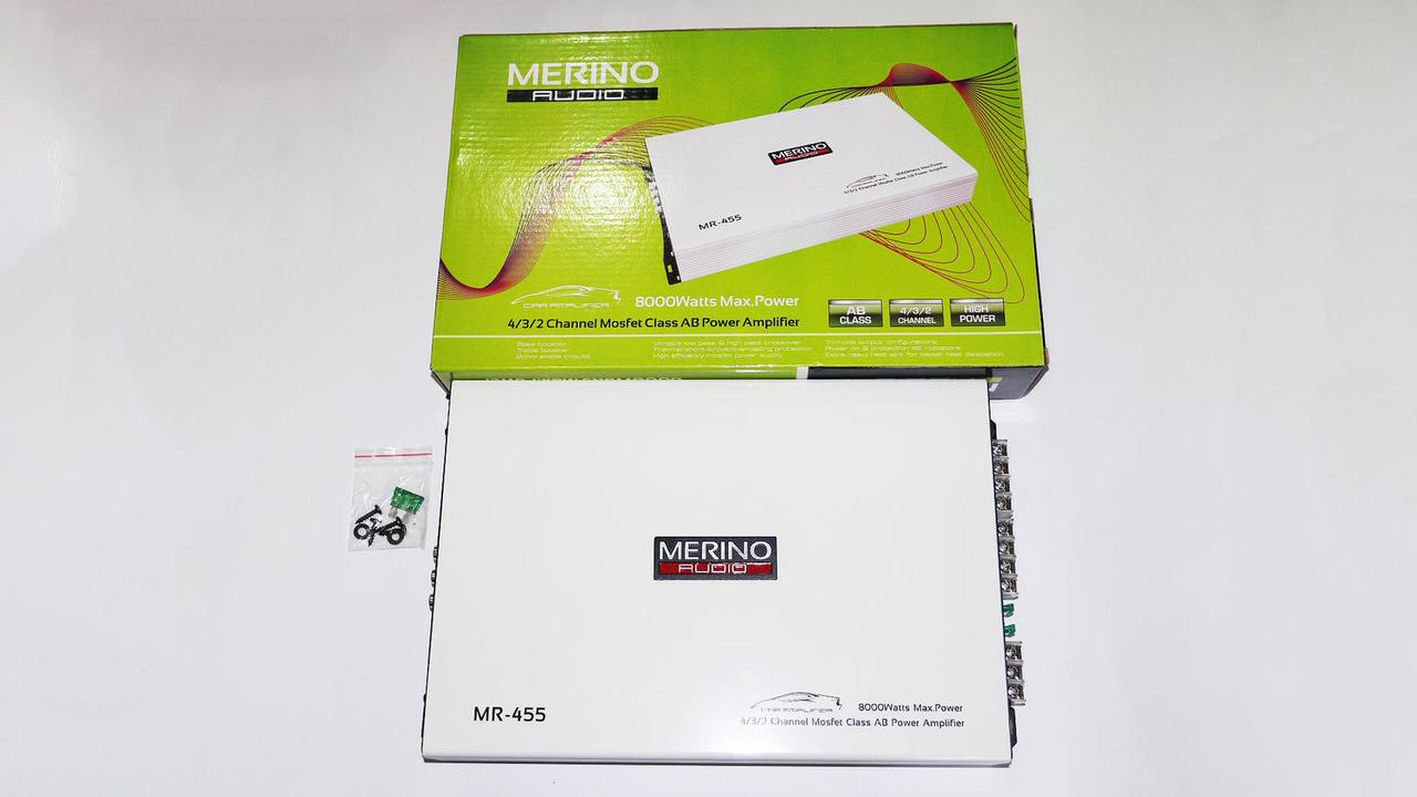 Автомобильный усилитель звука Merino Audio MR-455 8000Вт 4-х канальный