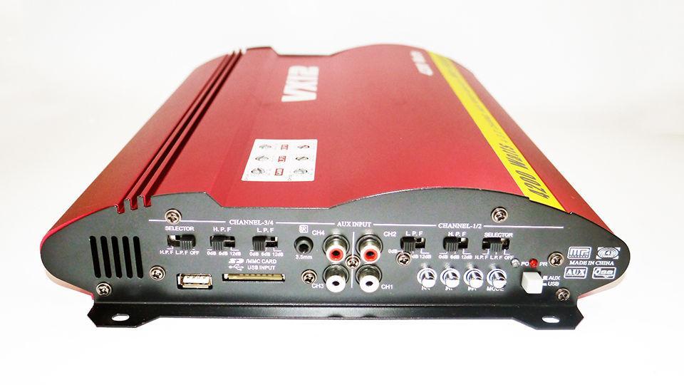 Автомобильный усилитель звука VX12 MRV-F905 + USB 4200 Вт 4х канальный
