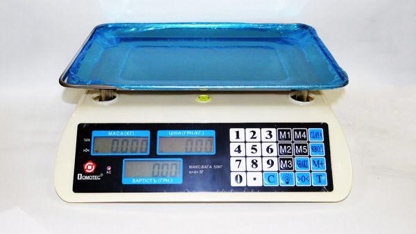 Весы ACS 50kg5g MS 587987 Domotec 6V