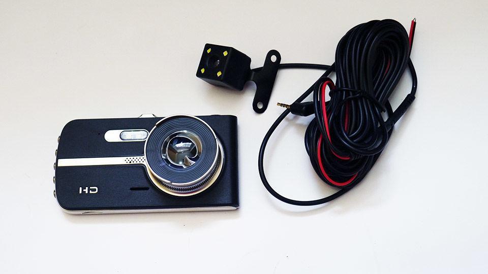 """Видеорегистратор DVR T653 4"""" Full HD с выносной камерой заднего вида"""