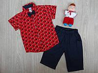 """Набор """"Juuta Boys"""" для мальчиков рубашка, шорты, бабочка красно-синий р.8"""