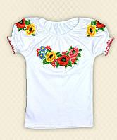 TM Dresko Вышиванка для девочки короткий рукав интерлок (93005)