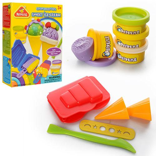 Тесто для лепки 6818-3  морожен,4цв,аром,формоч4шт,инструмен3шт,в кор,14-19-5см