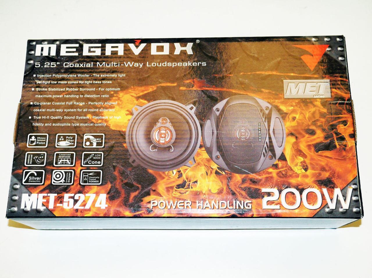 Динамики Megavox MET-5274 (200w) 13 см