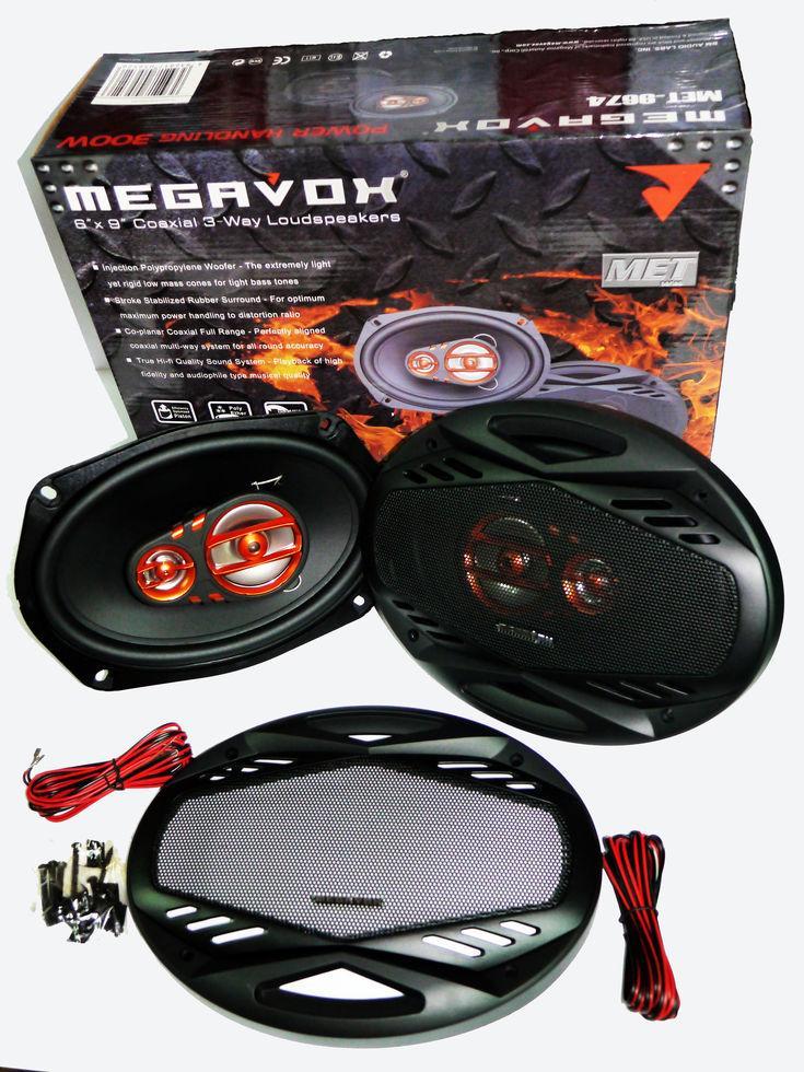 Динамики Megavox MET-9674 (300W) трехполосные