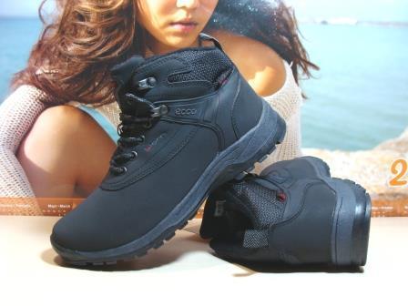 Женские ботинки Ecco Biom (реплика) черные 40 р.