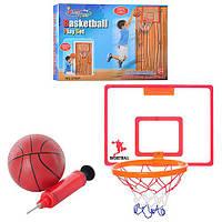 Баскетбольное кольцо M 2188  щит пласт41-30см,кольцо пласт,мяч рез,насос,в кор-ке,41-30,5-4см