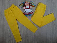 Летние коттоновые брючки для девочки желтые