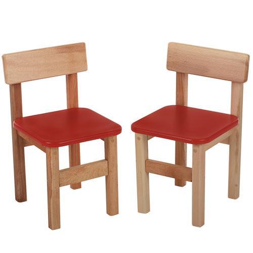 Стульчик F015  деревянный,в52-ш31-г33см,сиденье28-28см,высота до сиденья38см,красный