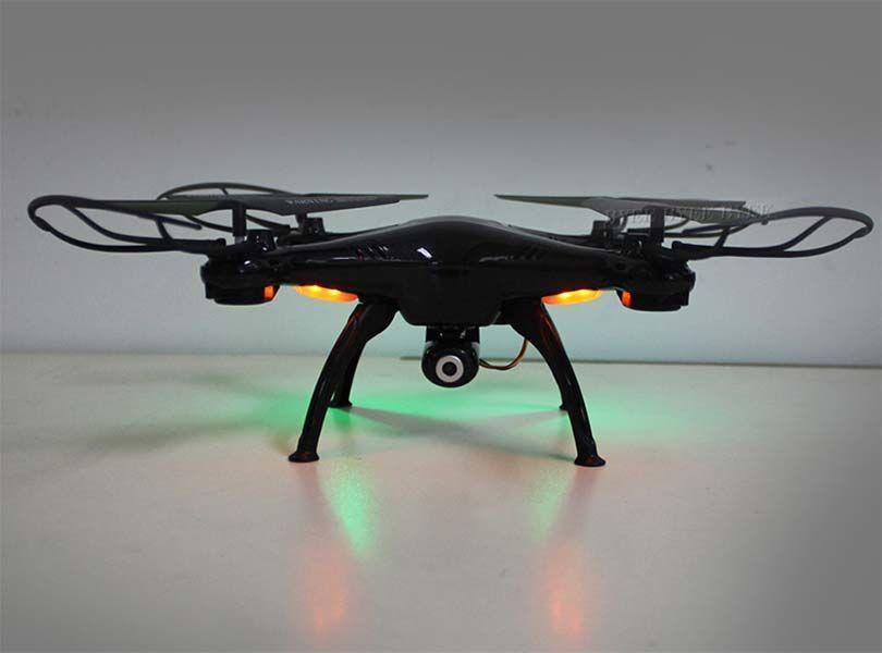 Квадрокоптер дрон c WiFi камерой X5SW-1 с  LED подсветкой