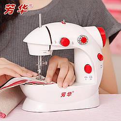 Мини швейная машинка FHSM-201 с педалькой с адаптером 220в