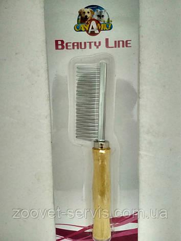 Расческаредкий зуб с деревянной ручкой3,5х17смС6ВІ0112, фото 2