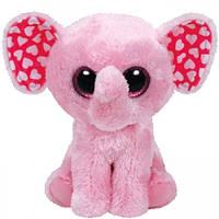 """Дитяча іграшка м'яконабивна TY Beanie Boo's 37089 Слоненя """"Sugar"""" 25см"""