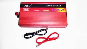 Преобразователь авто инвертор с Функцией плавного пуска UKC 12V-220V 4000 Вт с USB
