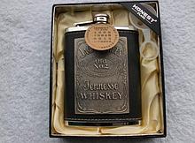 Фляга нержавейка в кожаном чехле «Jack Daniel's» 240 г / 8 oz