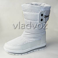 Модные подростковые дутики на зиму для девочки термо сапоги белые 35р. Tom.M