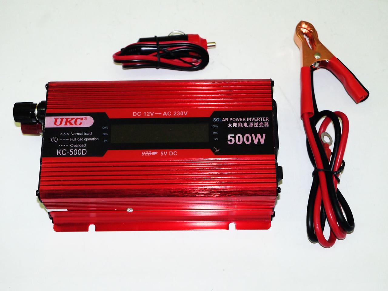 Преобразователь тока AC/DC UKC 500W KC-500D с LCD дисплеем