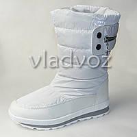 Модные подростковые дутики на зиму для девочки термо сапоги белые 36р. Tom.M