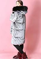Женская зимняя куртка на силиконе