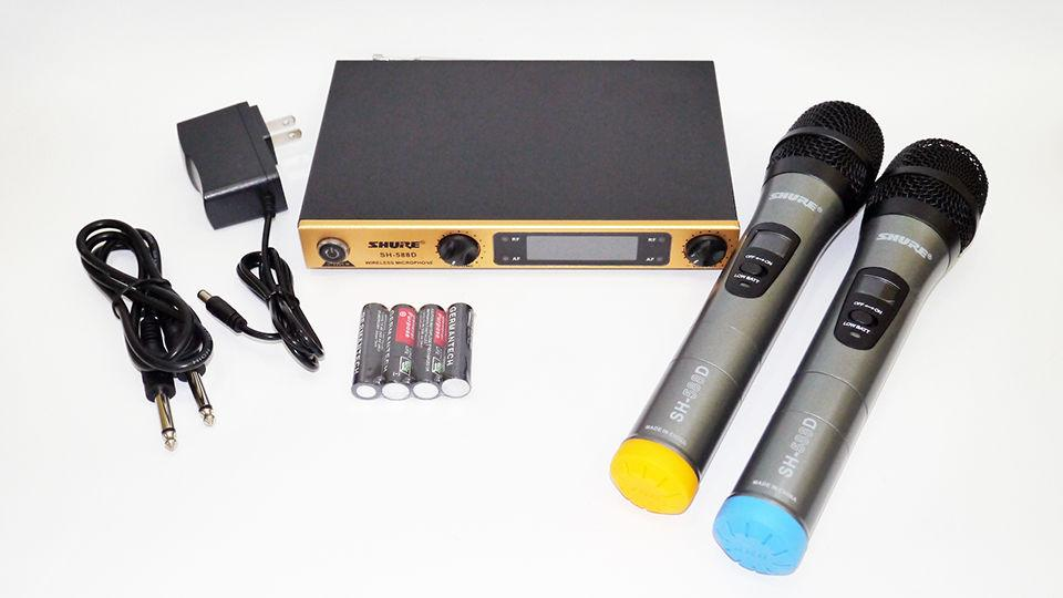 Радиосистема SHURE SH-588D база 2 радиомикрофона (copy)