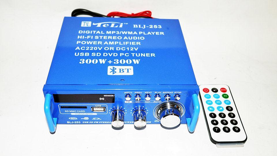 Стерео усилитель звука BLJ-253A Bluetooth