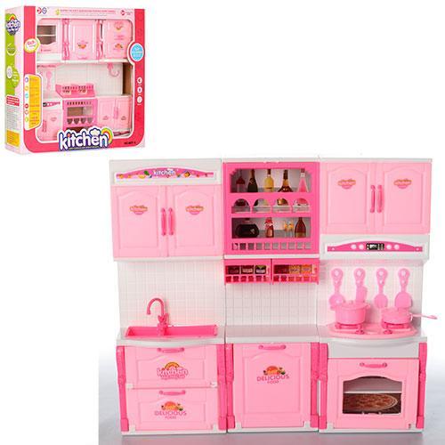 Мебель 6877-A  кухня, 36-32-7,5см, посуда, звук, свет, на бат-ке, в корке,40,5-36-8,5см